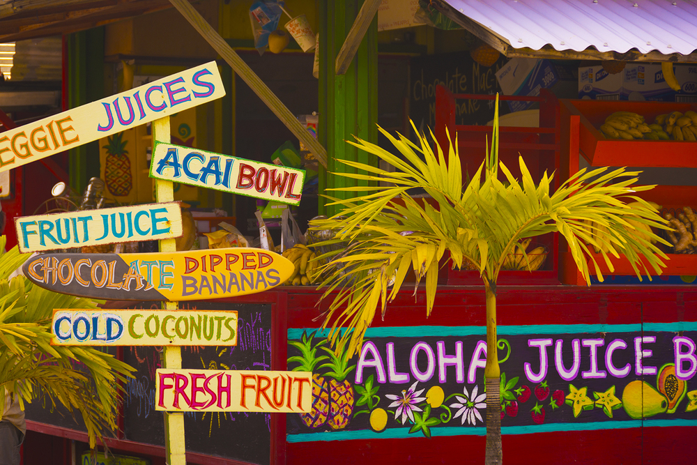 One of Kaua'i's many fabulous juice bars