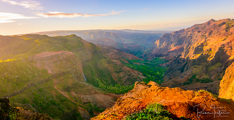Waimea Canyon at sunrise