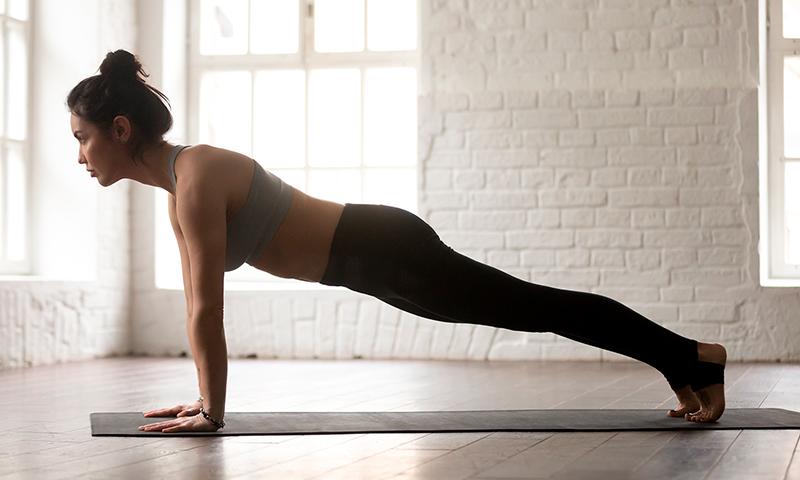 A Straight-Arm Plank.