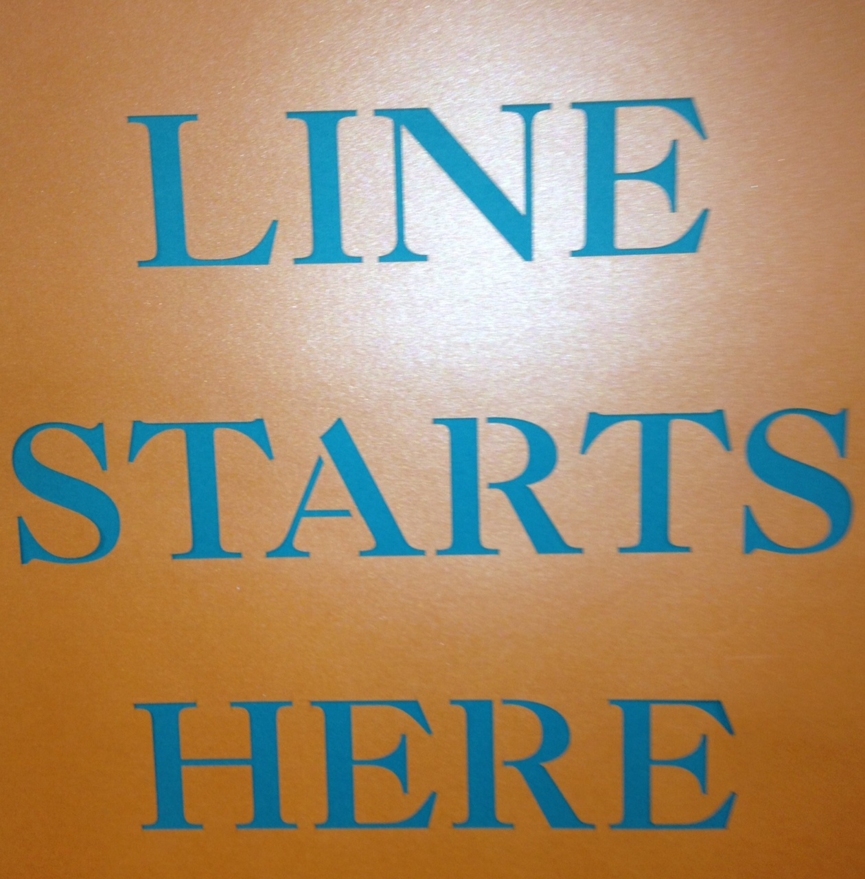 Line starts here