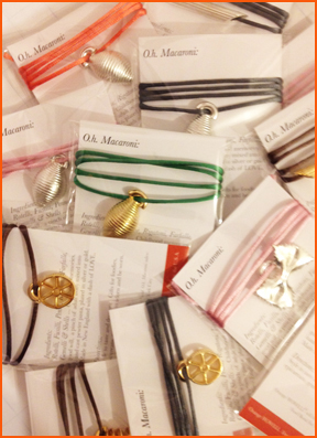 SHOP Recipe Cards with #OHMacaroniPasta Pendants. Custom recipes, messaging, bulk orders and color options available.sales@orangehowell.com