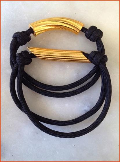 SHOP#OHMacaroniBracelets w/Slip-Knots & Gold Rigatoni & Penne