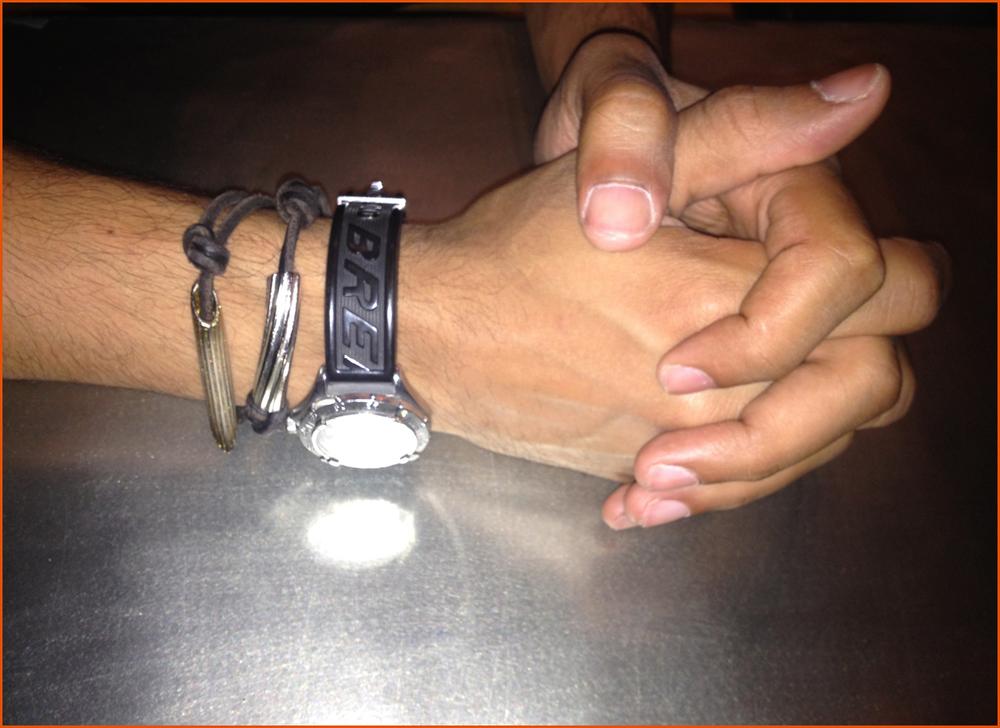 Rigatoni & Penne on Espresso Leather Slip-Knot Bracelet #mens #fashionSHOP