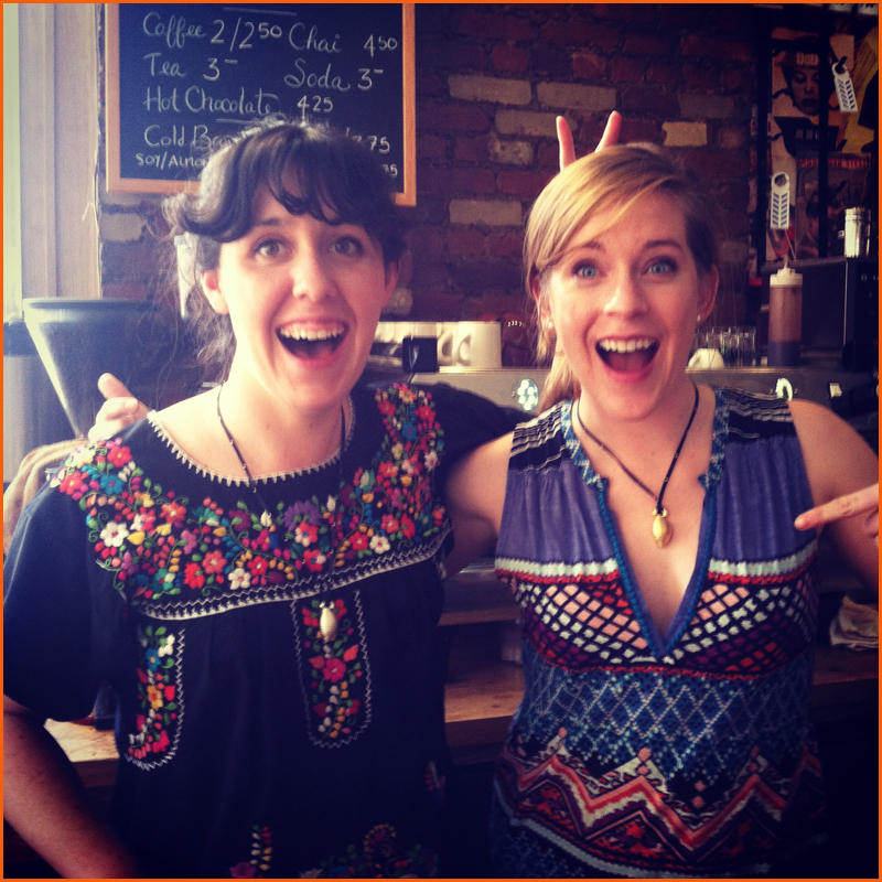NYC Barista Bunnies @ Ost Cafe, Lauren Faulkner and Ally Boate on Easter Sunday...workin'