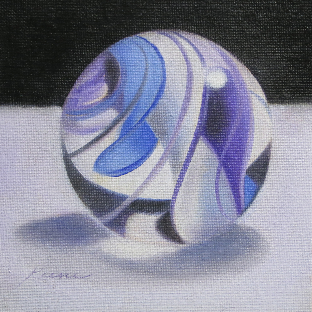 Blue and Purple Marble