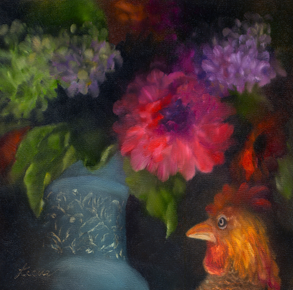 Flowers and Cock's Comb