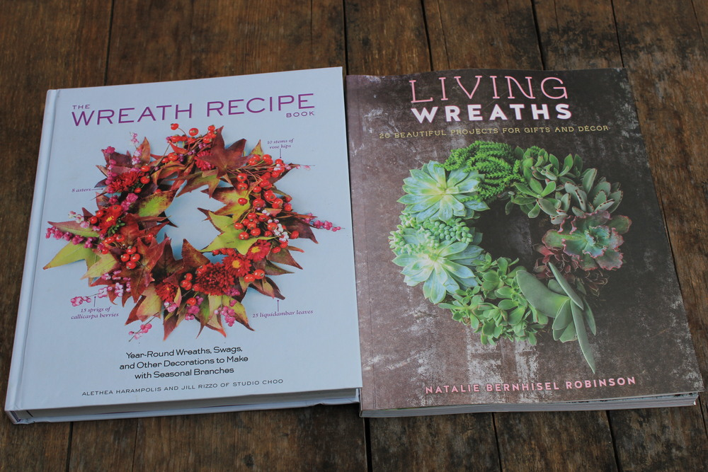 I love to be inspired by other florist. Recommended wreath books The Wreath  Recipe by Alethea Harampolis and Jill Rizzo of Studio Choo and Living Wreaths by Natalie Bernhisel Robinson.