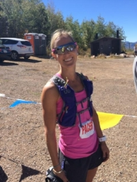 Emilee completing one of her many ultra-running events.