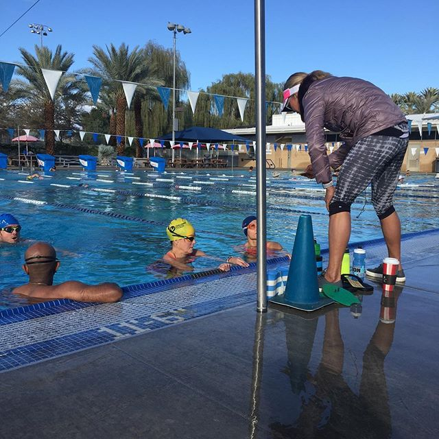 Brite Coach @britebritni doing what she does best=sharing knowledge. #raceprep #ironmanindianwells #britecoach