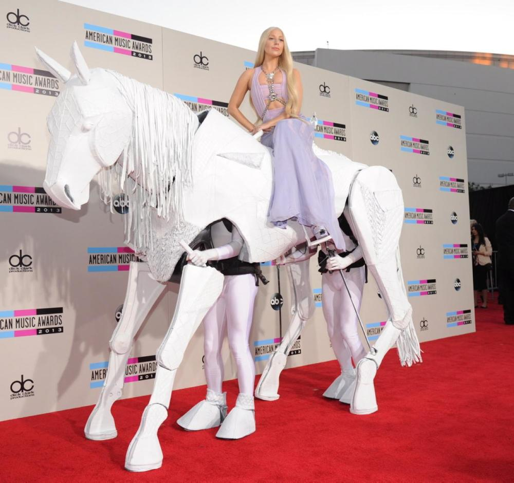 """American Music Awards 2013: All the red carpet looks from the AMAs: Lady Gaga"",  Daily News ."