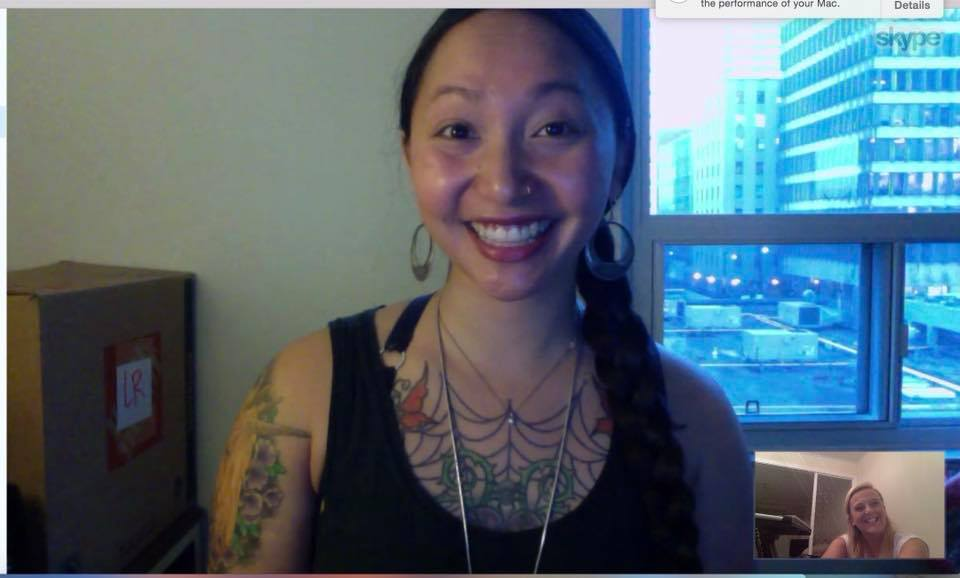 The end of another successful Skype lesson with a gorgeous student!