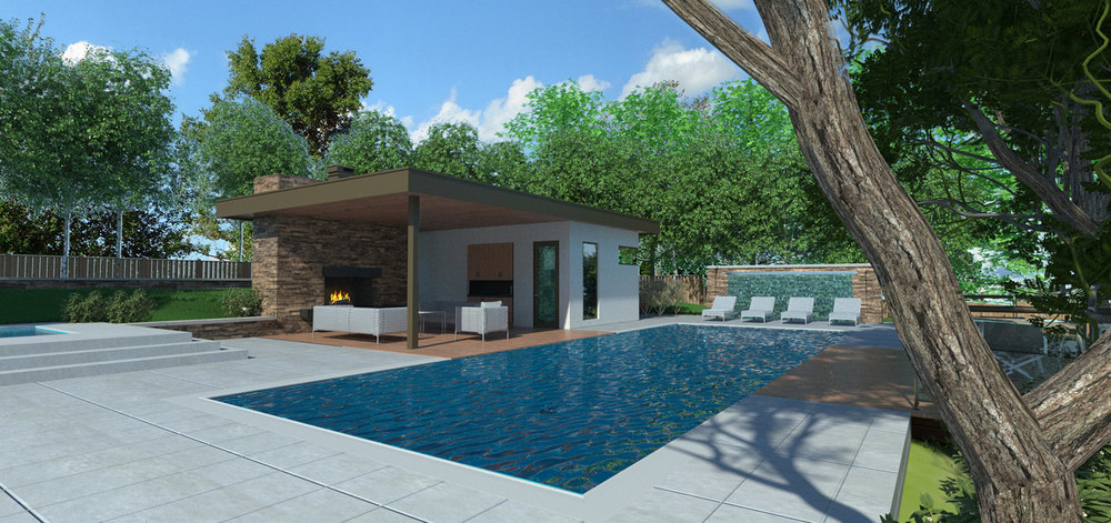 Pool house line 8 design