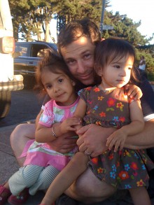 """Dr. Justin Davis, """"The House Doctor"""", and his daughters, Zolie & Anjali"""