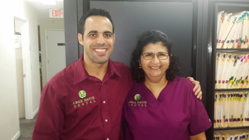 Dr. Cruz-Davis and veteran hygienist, Liz