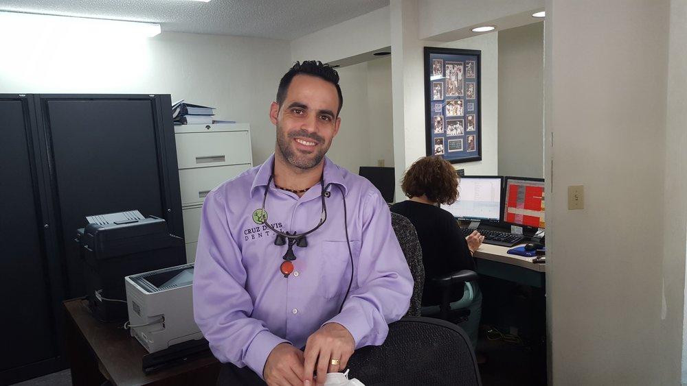 drcd purple shirt front office.jpg