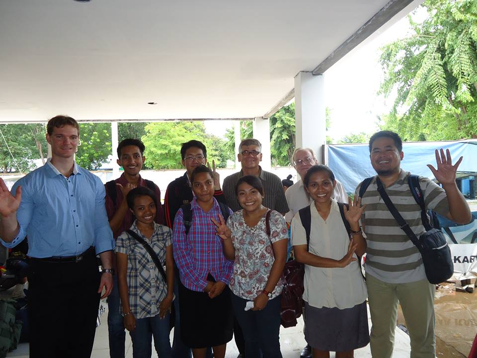 UniBRIDGE lecturers from Australian universities visit UniBRIDGE participants from UNDANA in Kupang in January 2014