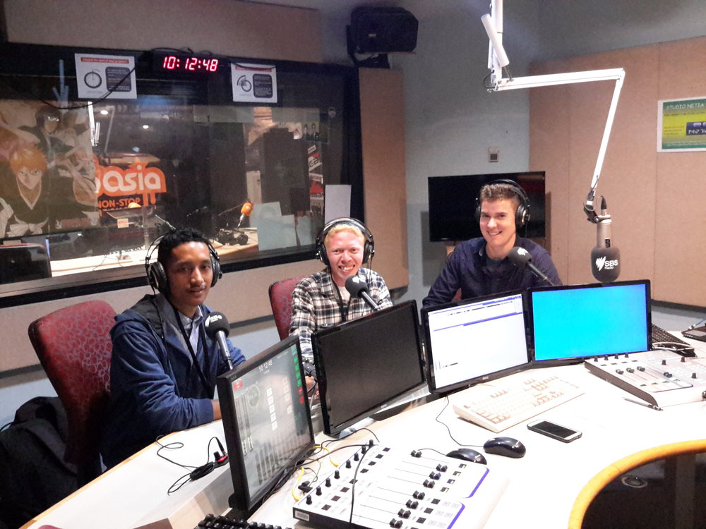 Steven & Qrezpy talk about UniBRIDGE Project on SBS Radio in Sydney, August 2016