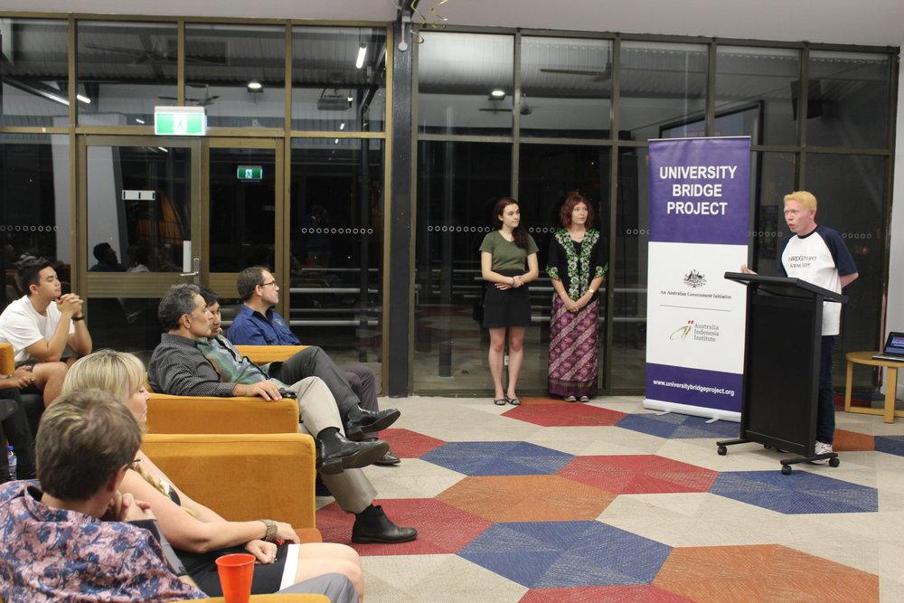 Steven talks about UniBRIDGE Project in Darwin, Australia. August 2016