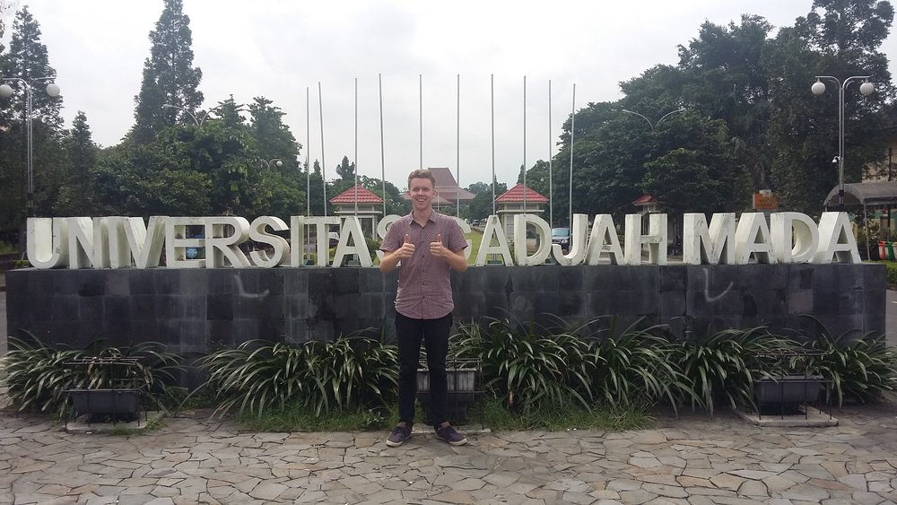 I studied Indonesian literature at Universitas Gadjah Mada in Yogyakarta. Credit - Lachlan