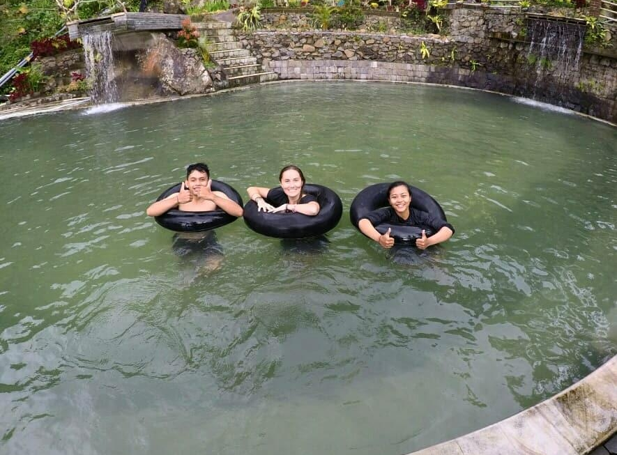 Natural Pool Waterfall with Agus and Anggre