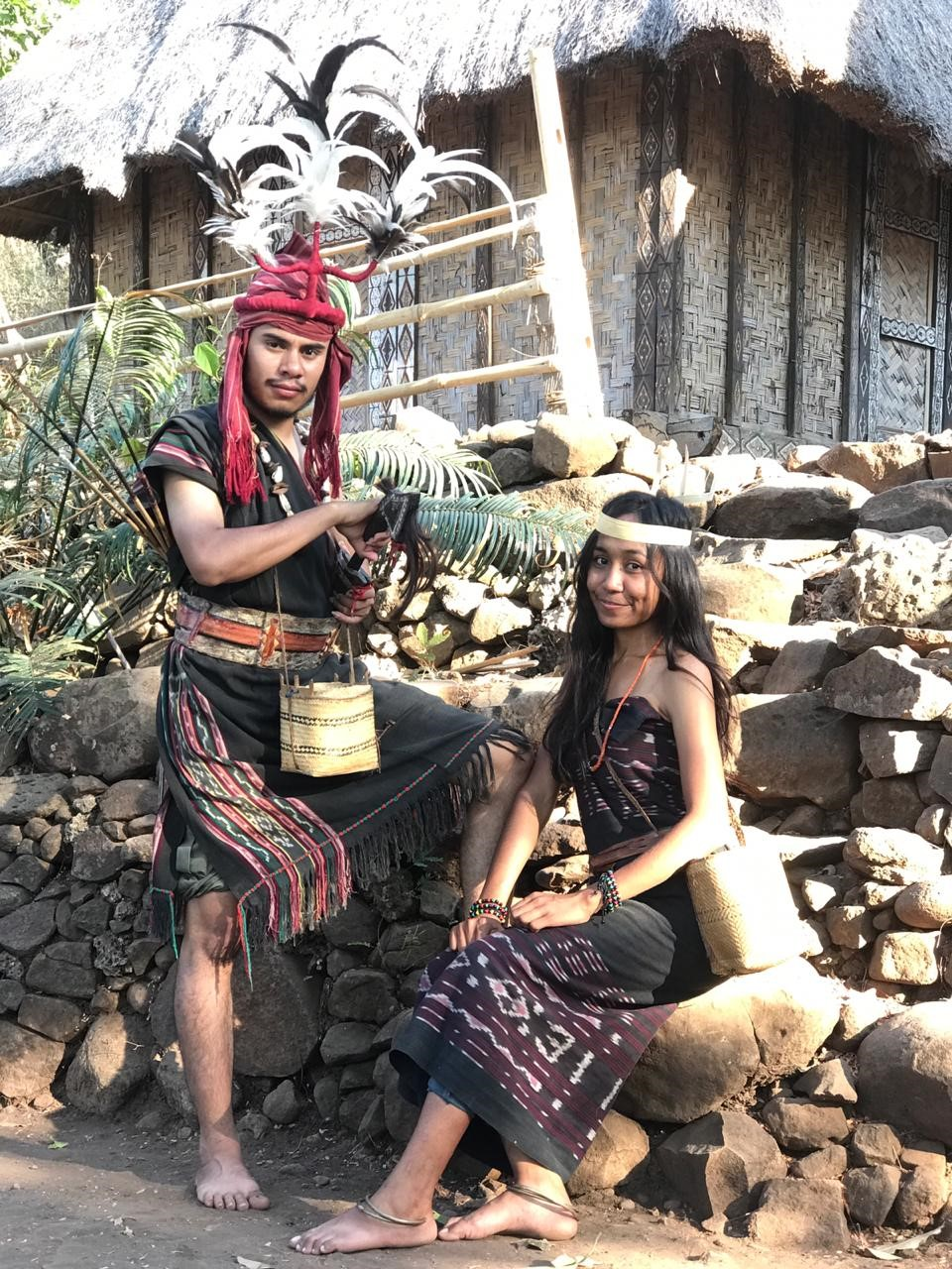A young couple in traditional dress from Takpala, Alor Island, Indonesia