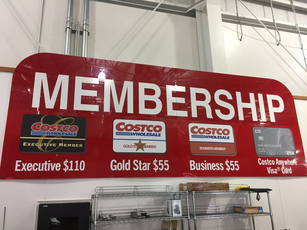 The membership options at Costco.  It is a little misleading because both Gold Star and Business memberships can be upgraded to the Executive tier.