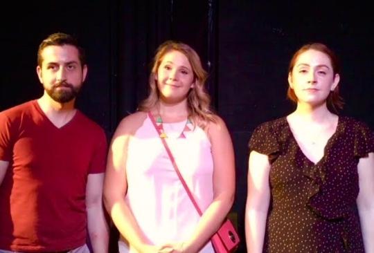 At the Museum  Cast, Ryan Powers, Kat Moser and Blythe Beard-Kitowski