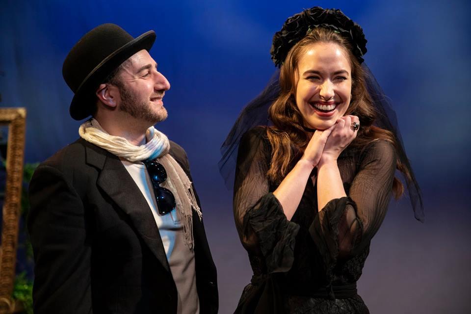 Steve as Feste and Karoline Patrick as Olivia; Photo by Maria Baranova