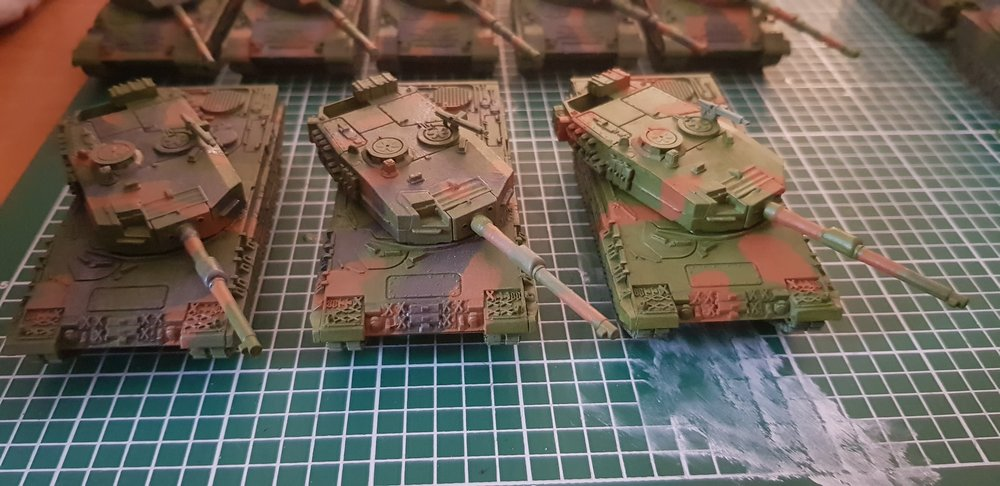 Leopard 2 with camos - right one still missing the Worn Rubber set of camo