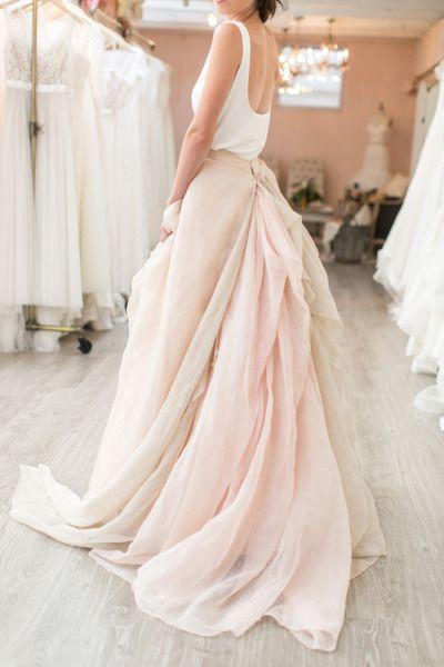 Stunning statement skirt in blush pink