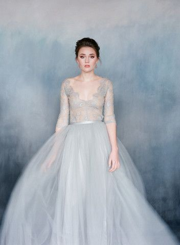 Powder Blue Nightingale gown by Emily Riggs Bridal