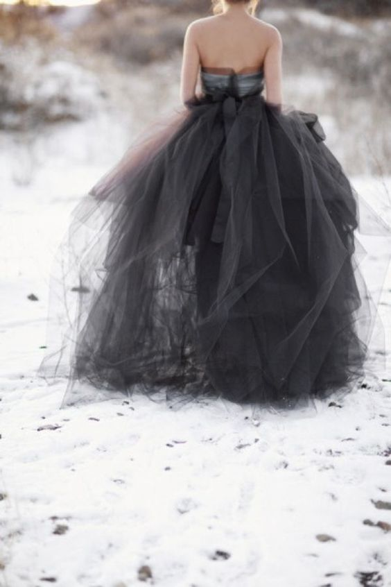 Acres of black tulle