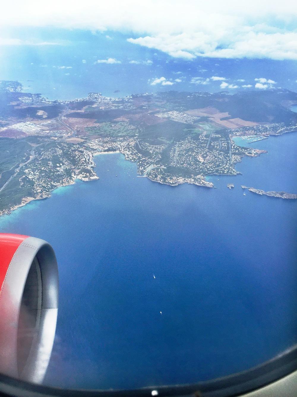 Flying via Palma, Majorca