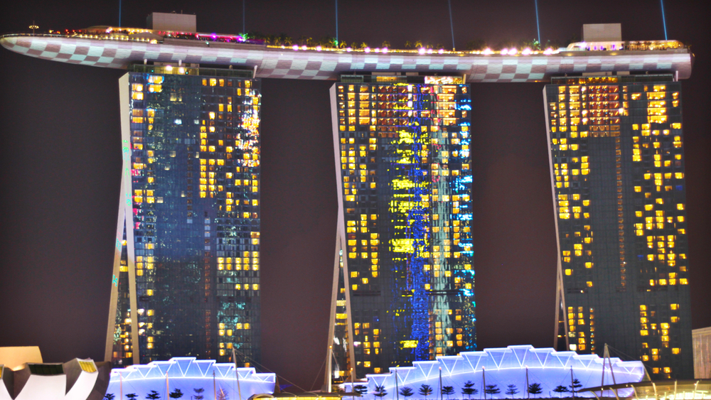 Marina Bay Sands in Singapore is an incredible view.