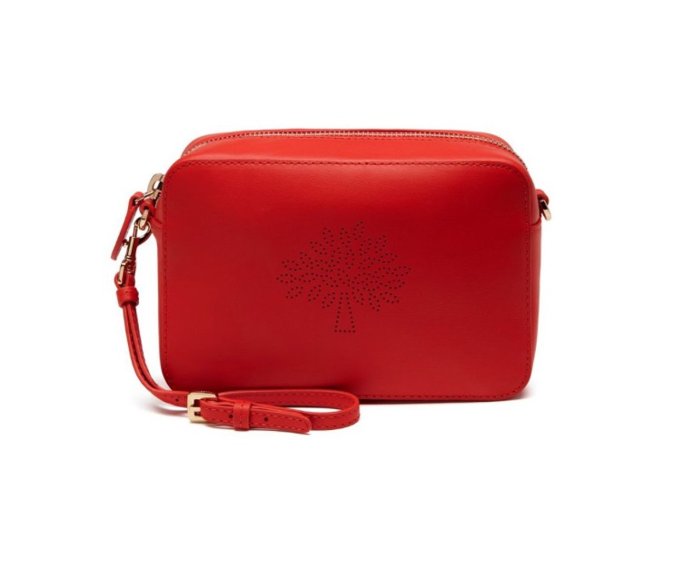 Blossom Pochette with Strap, Mulberry, was £237, now £137