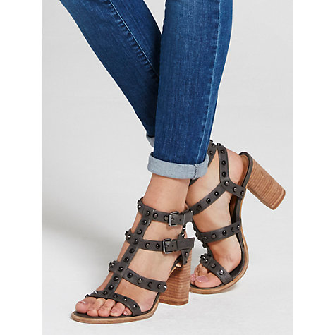 Mint Velvet Billie Studded Block Heeled Sandals, £99, reduced from £129 at John Lewis