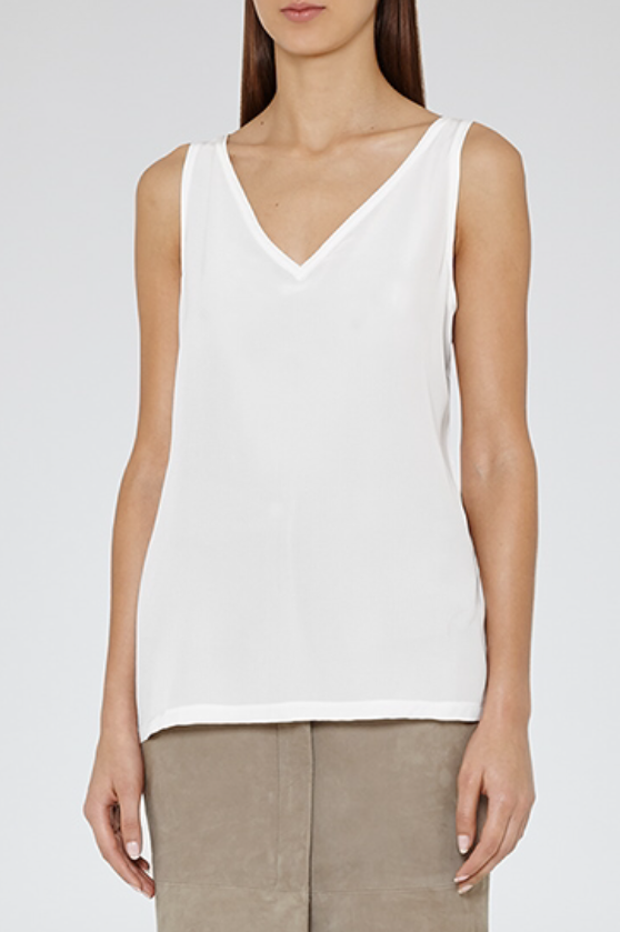 Silk Fronted Mikaela Top, £45, Reiss