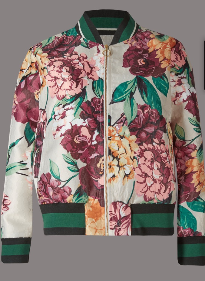 Flora Print Bomber Jacket, £69   This bomber jacket is sooooo not me, but it made it on to my top 10 list as the muted colour palette it has makes it far easier to wear than it first looks. I would personally pair it with jeans and a simple white tee, but those that are blessed with the ability to mix, and carry off, patterns will look far more fashionable than one would assume of a Marks and Spencer jacket.