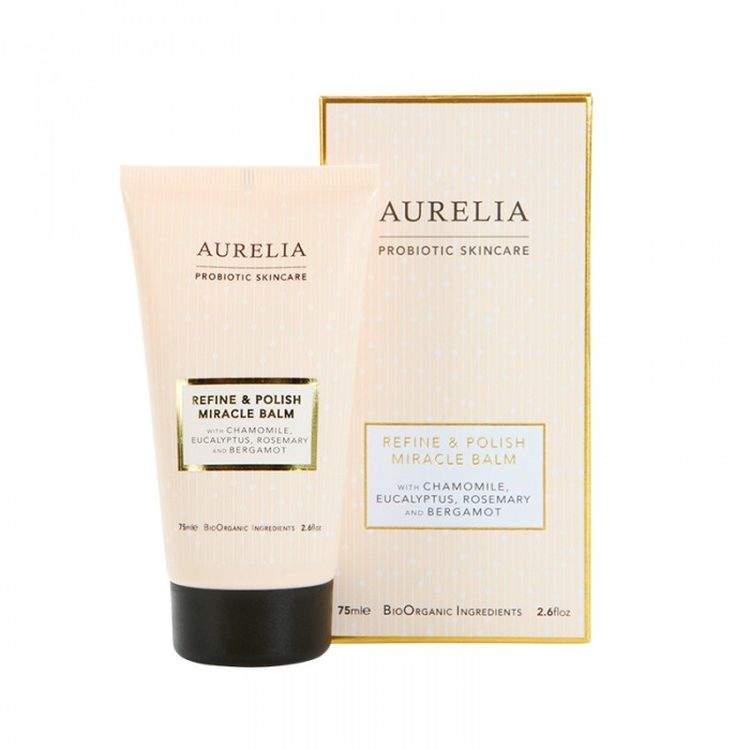 Aurelia Refine and Polish Miracle Balm   This enzyme rich balm is exactly what lacklustre winter skin calls out for. Its packed full of skin brightening oils that wake up dull skin when they have been buffed by the polish's all natural refining beads. In fact this whole range is not only excellent but completely free of all the skincare nasties and just uses bio organic ingredients.