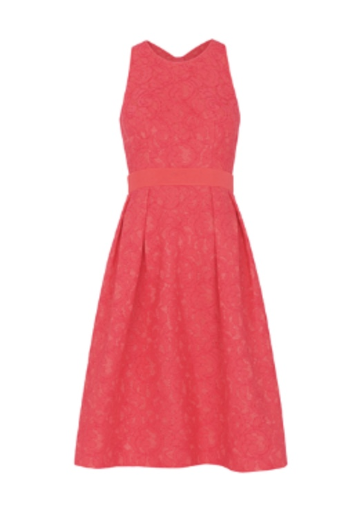 Lace Bonded Dress, Whistles  I have this dress earmarked for a summer wedding or two this coming matiromonial season. But it could equally be dressed down with flats for a pulled together day look. Whilst quite an expensive item of clothing, Whistles clothes always last due to timeless tailoring and  quality materials so even with this dress's bright colour, you could be wearing it for years to come.