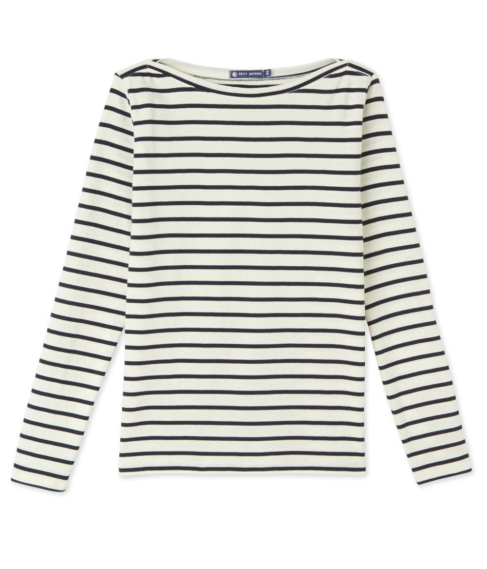 7) Breton Stripe Long Sleeve T Shirt   Petit Bateau, Cotton T Shirt, £29