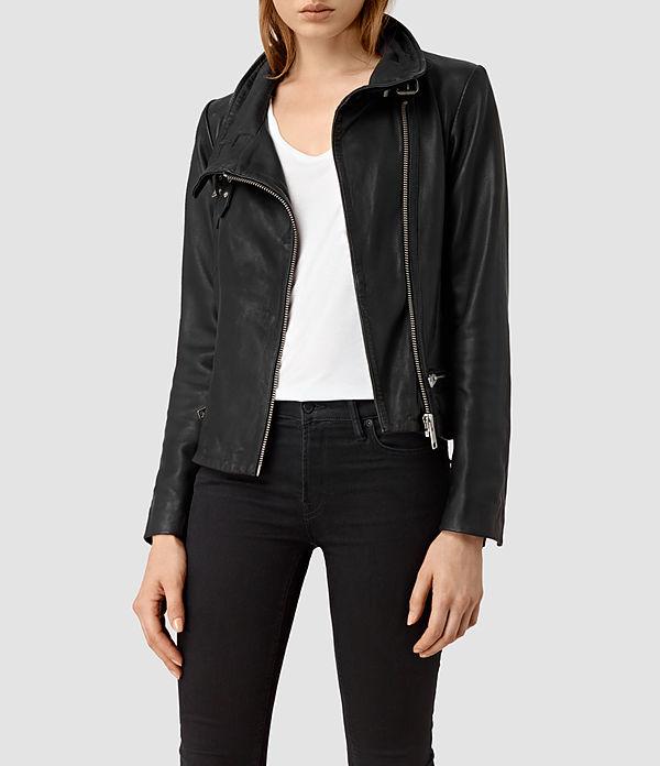 5) Leather Jacket   All Saints, Bales Leather Biker Jacket, £318