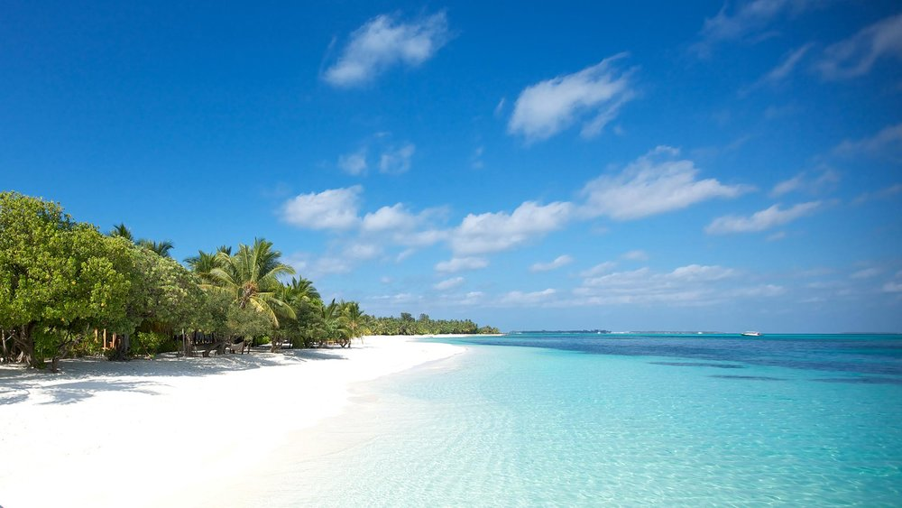One of many idyllic spots in the Maldives
