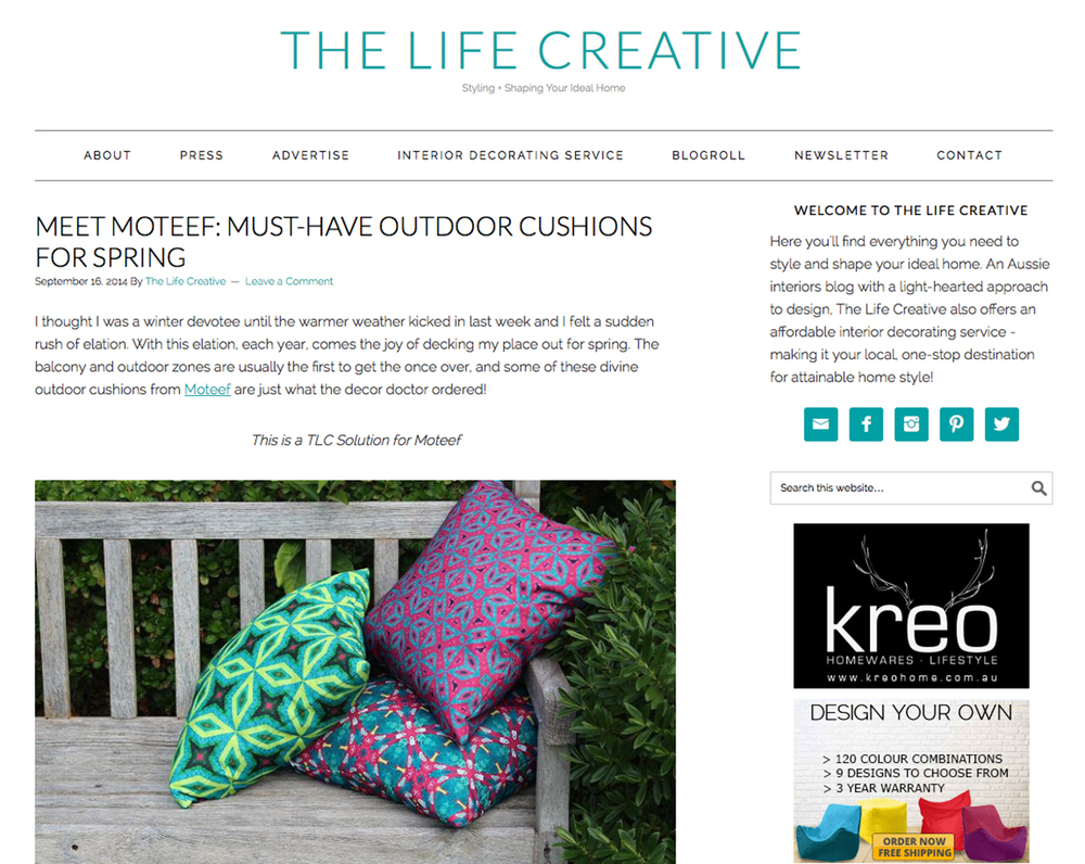 > Meet Moteef: Must-have outdoor cushions for spring - feature| via www.thelifecreativeblog.com #MyMoteef #cushions #patio #decor #homewares