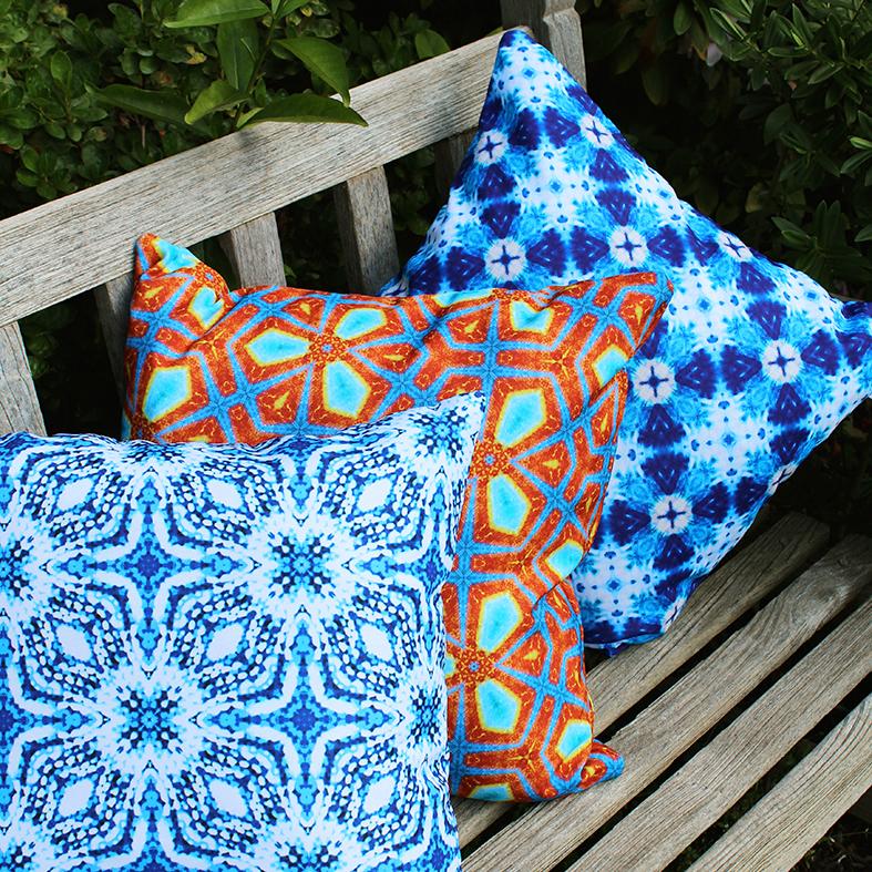 > Saf, Jococo and Seguro outdoor cushions | via moteef.com.au   #MyMoteef