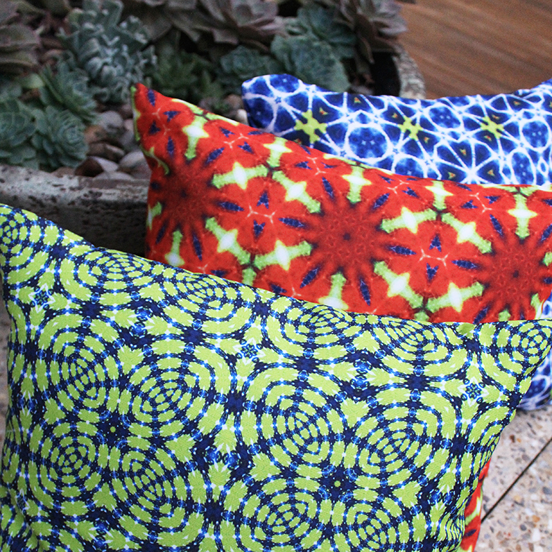 > Emin, Coskulu and Siyasi outdoor cushions | via moteef.com.au #MyMoteef