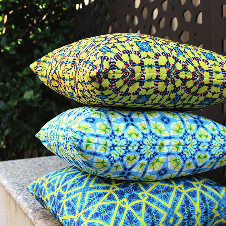 > Feliz, Aliviar and Kesin outdoor cushions | via moteef.com.au #MyMoteef