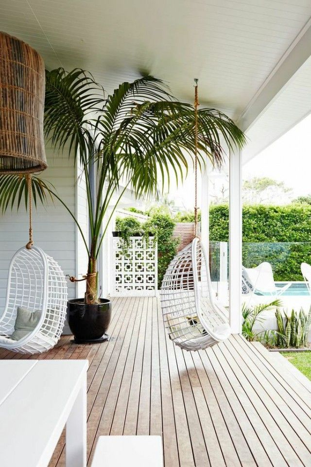 Hide the pool pump and swim toys when not in use. Source: theinteriorsaddict.com