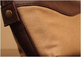Cotton canvas beige with brown leather.jpg