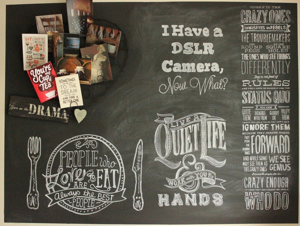 The whole chalk board